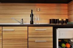 Mobilia moderna della cucina Immagine Stock Libera da Diritti