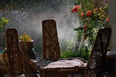 Mobilia nazionale del patio Fotografia Stock Libera da Diritti