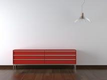 Mobilia rossa di disegno interno sopra Immagine Stock Libera da Diritti