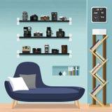 Mobilia-sofà del salone Fotografie Stock Libere da Diritti