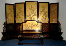 Mobilia tradizionale cinese - il museo del palazzo Fotografia Stock Libera da Diritti