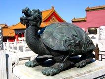 Mobilia tradizionale cinese - il museo del palazzo Fotografie Stock Libere da Diritti