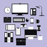 Mobiliario de oficinas ilustración del vector