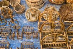 Mobilie della canna, artigianato indiani giusti Fotografia Stock Libera da Diritti