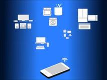 Mobilità di Smartphone ed inter connettività a casa royalty illustrazione gratis