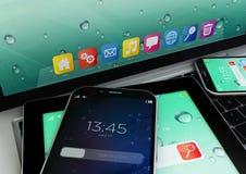 Mobilità e concetto moderno di telecomunicazione Fotografia Stock