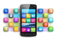Mobilität, Internet und Kommunikationskonzept Stockbilder