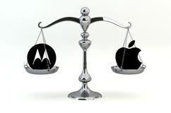 Mobilité de Motorola contre Apple Images stock