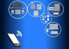 Mobilité et connectivité inter À la maison Photos stock