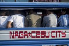 Mobilité par la masse, Cebu, les Philippines photos libres de droits