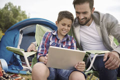 Mobility on camping Royalty Free Stock Photography