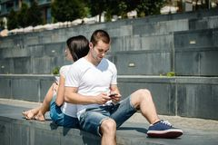Mobility - couple lifestyle Royalty Free Stock Photography