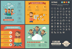 Mobility flat design Infographic Template Royalty Free Stock Photo