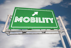 Mobility Freeway Sign New Transportation Ride Sharing Stock Image