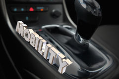 Mobility Gear Shift Car Vehicle Transportation Word Royalty Free Stock Photos