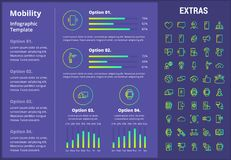 Mobility infographic template, elements and icons. Stock Image