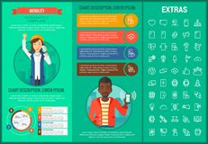 Mobility infographic template, elements and icons. Royalty Free Stock Image