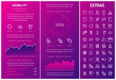 Mobility infographic template, elements and icons. Royalty Free Stock Photo