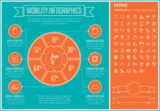 Mobility Line Design Infographic Template Royalty Free Stock Photography