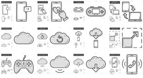 Mobility line icon set. Stock Photography