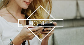 Mobility Mobile Technology Telephone Smartphone Concept.  Royalty Free Stock Images