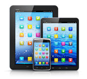 Mobile devices Stock Image