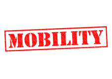 MOBILITY. Red Rubber Stamp over a white background royalty free illustration