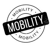 Mobility rubber stamp Stock Image