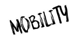 Mobility rubber stamp. Grunge design with dust scratches. Effects can be easily removed for a clean, crisp look. Color is easily changed stock illustration