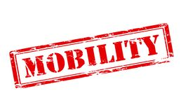 Mobility. Rubber stamp with word mobility inside, illustration royalty free illustration