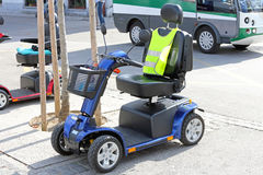 Mobility Scooter. Electric Vehicle For Handicapped Transport stock images
