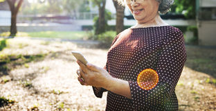 Mobility Senior Adult Online Chat Concept Stock Photo