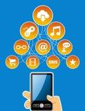 Mobility social media concept Stock Photo