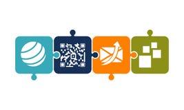 Mobility solver Logo Design Template Stock Photos