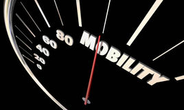 Mobility Speedometer Needle New Transportation Driving Royalty Free Stock Photography
