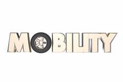 Mobility Wheel Word New Transportation Travel Royalty Free Stock Photo