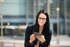 Mobility - woman with tablet Stock Photos