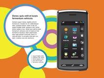 Mobilkommunikationen Stockbild
