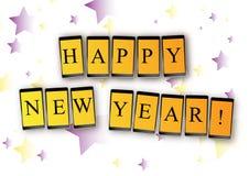 Mobilmeddelande för nytt år Arkivbild