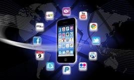 mobilna apps sieć s dzisiaj co twój ilustracja wektor
