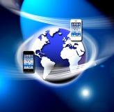mobilna apps sieć zabezpieczać radio ilustracji
