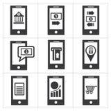 Mobilna bankowości ikona royalty ilustracja