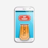 Mobilna biletowa online usługa Obraz Royalty Free