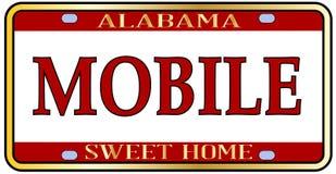 Mobilna miasta Alabama stanu tablica rejestracyjna Fotografia Royalty Free