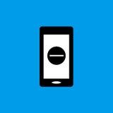 Mobilna płaska ikona Obraz Stock