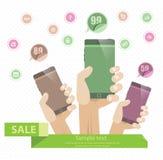Mobilna sprzedaż ilustracji