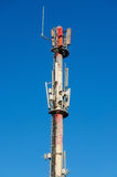 Mobilna telekomunikaci antena Zdjęcie Royalty Free