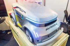 Mobilna zdalnie sterowany platforma na Związanym samochodzie 2016 Fotografia Stock
