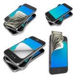 Mobilne zapłaty - set 3D ilustracje Zdjęcia Royalty Free