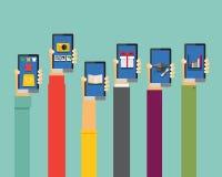 Mobilni apps ilustracyjni Zdjęcie Royalty Free